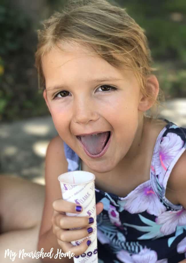My kids ate all my Jolly Llama sorbet pops