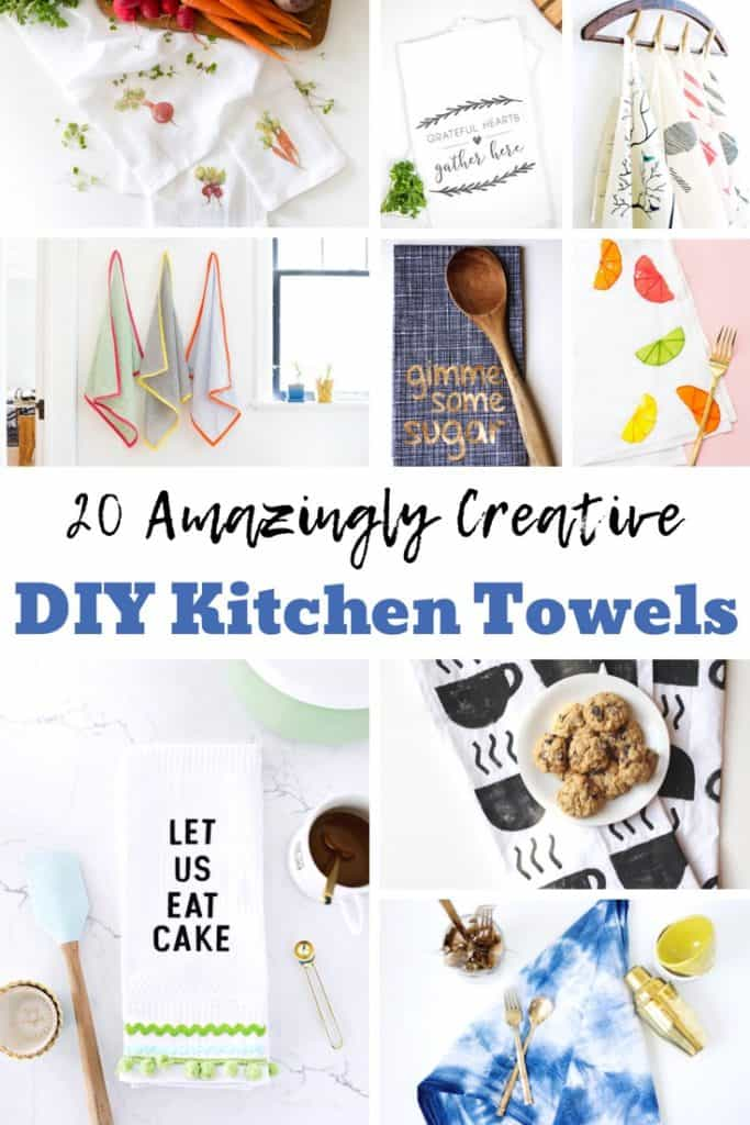 Homemade DIY Tea Towels for a perfect, personal touch to your kitchen decor.