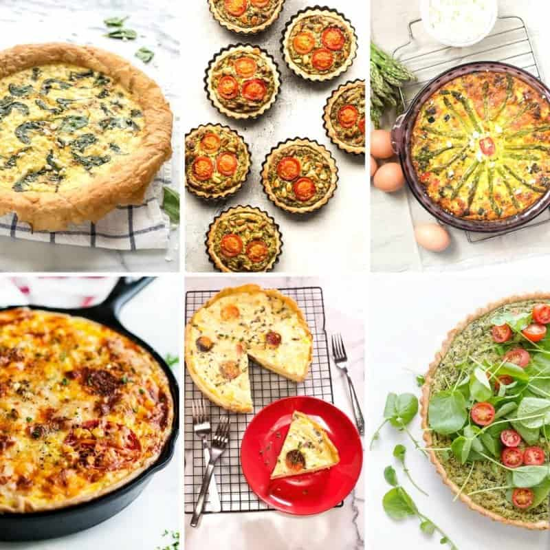 A collection of quiche recipes for breakfast lunch or dinner