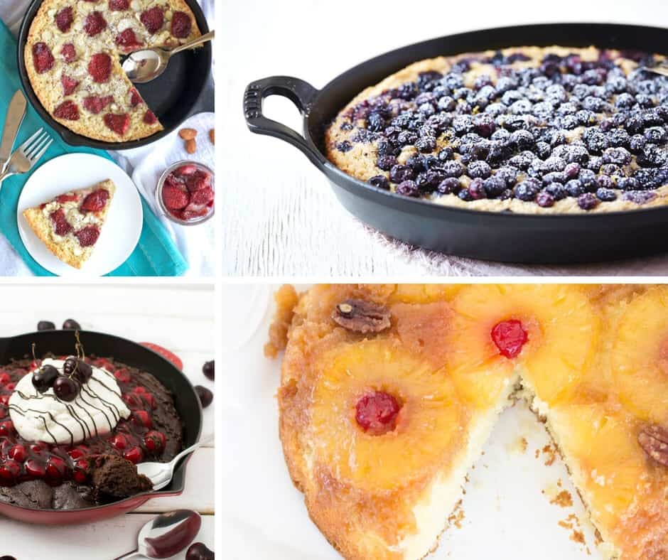 Chocolate and Fruity Skillet Cake Recipes