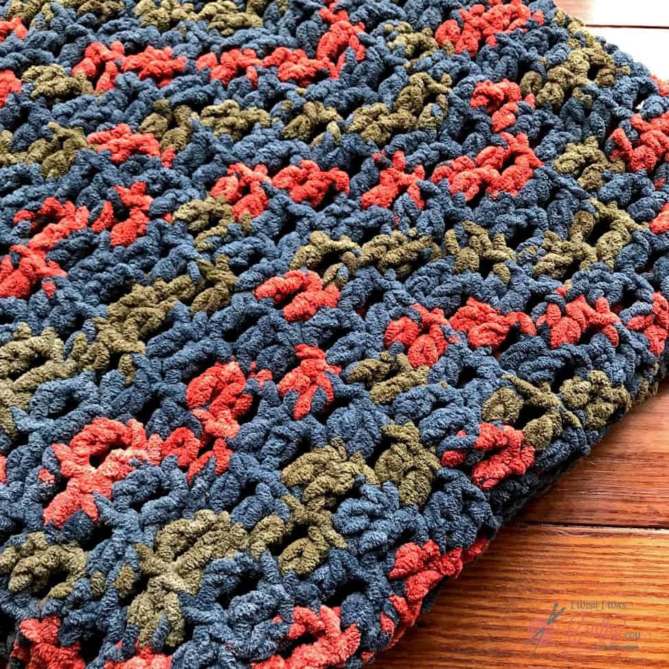 Double Crochet Blanket Pattern #doublecrochet #blanket #crochet