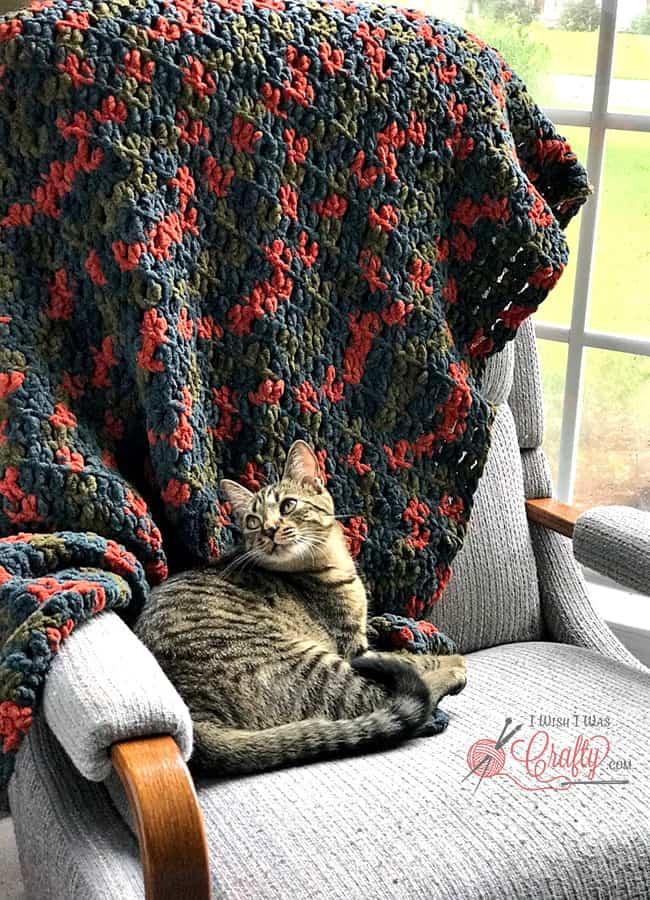 Beginner Crochet Blanket #crochet #beginnercrochet