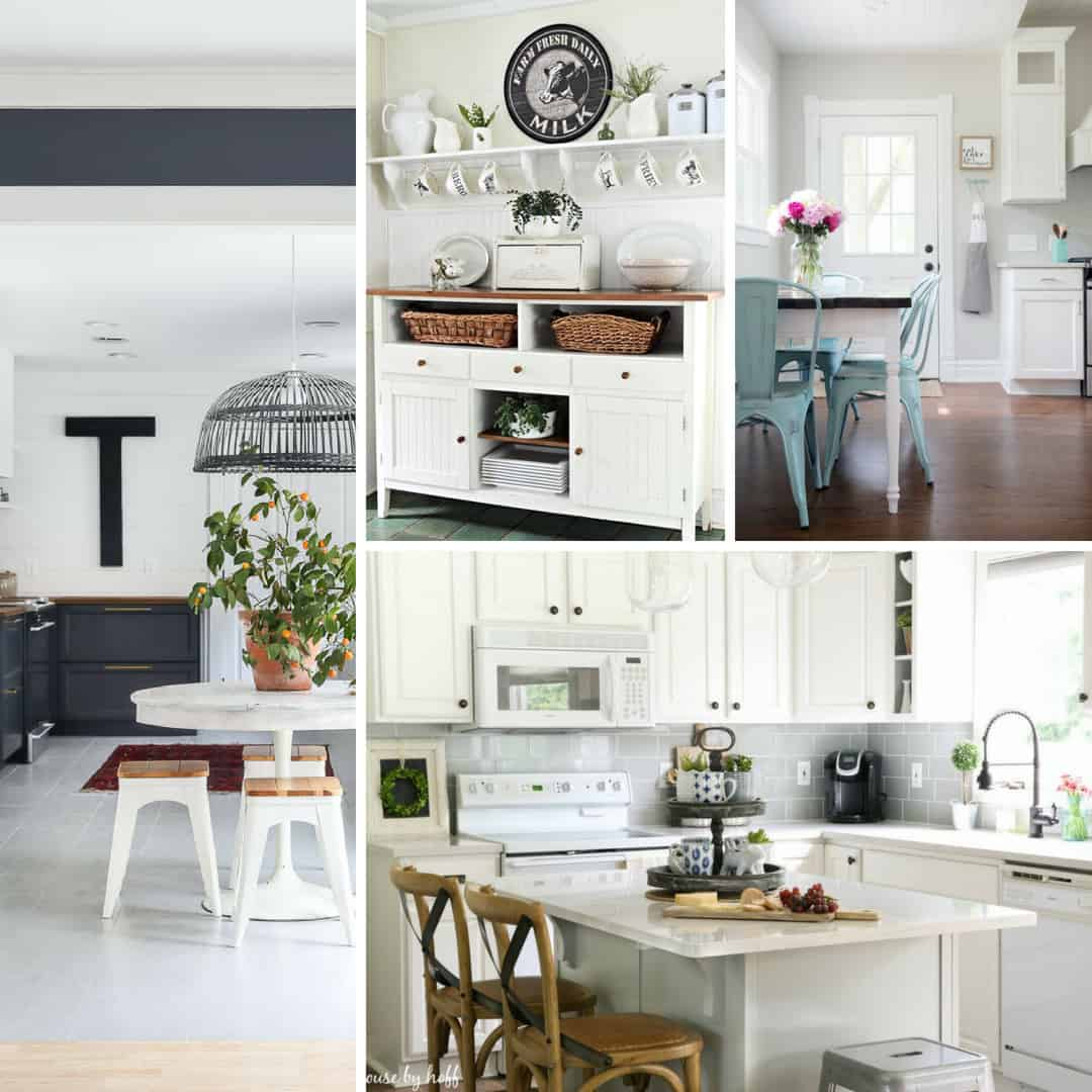 Farmhouse kitchen are relaxed and functional. I love them!