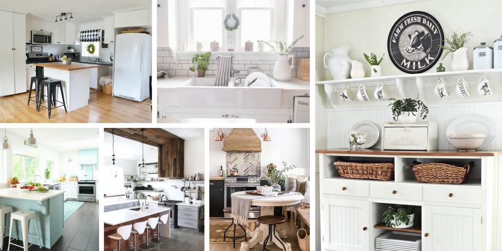 Farmhouse style decor for the kitchen