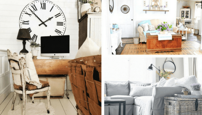 Farmhouse Living Room Ideas to DIY - IWishIWasCrafty.com