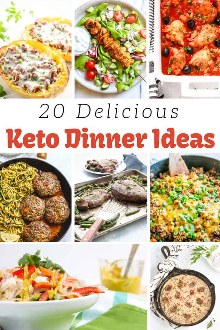 20Keto Dinner Ideas - Delicious Keto Recipes to add to your weekly Keto meal plan! via @MyNourishedHome #Keto #KetoDinners #KetoMealPlan #Recipes