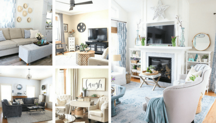 More Farmhouse Living Room Ideas to DIY - IWishIWasCrafty.com