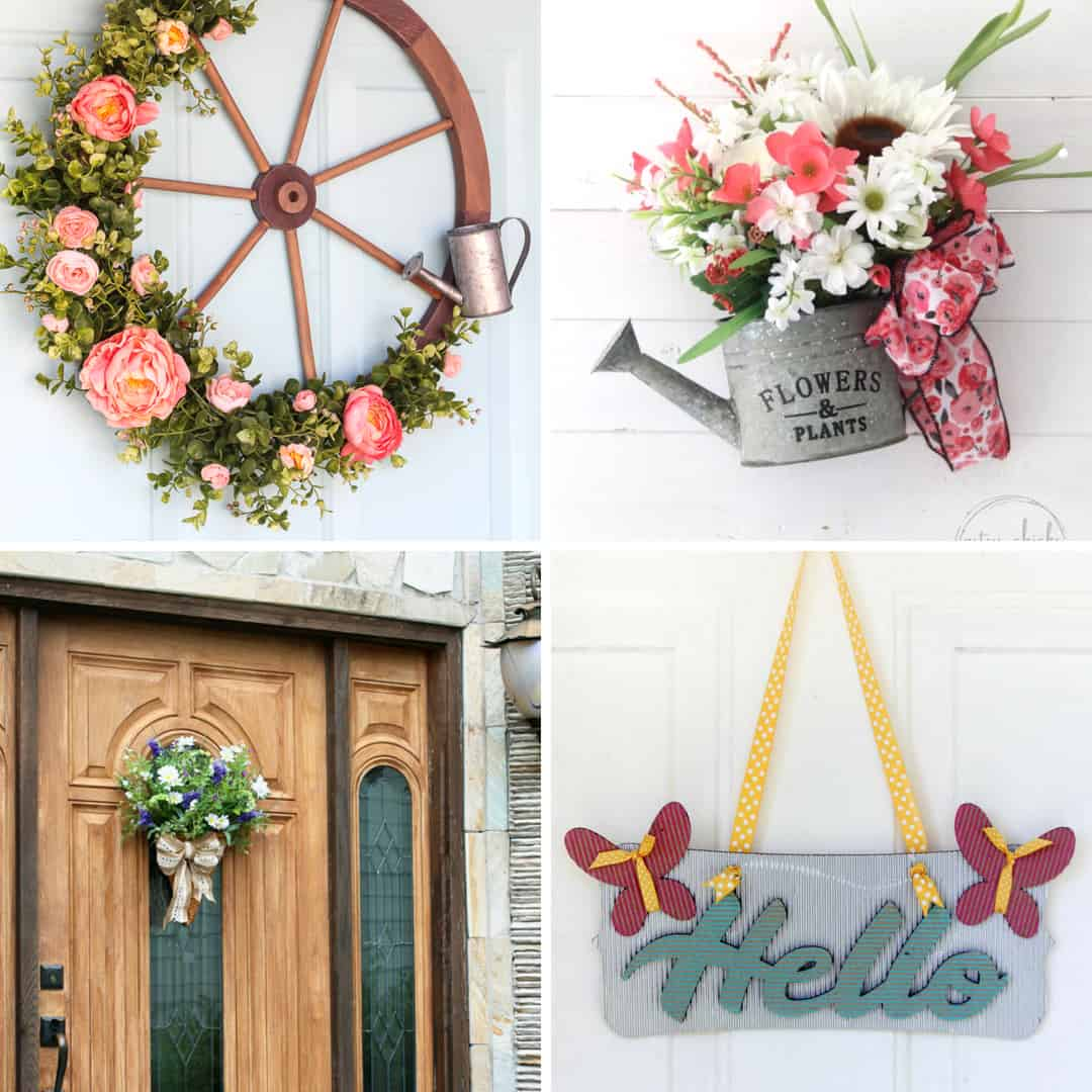 Front Door Wreaths and Decor for Summer