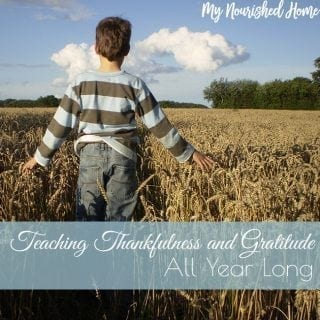 Teach thankfulness all year long