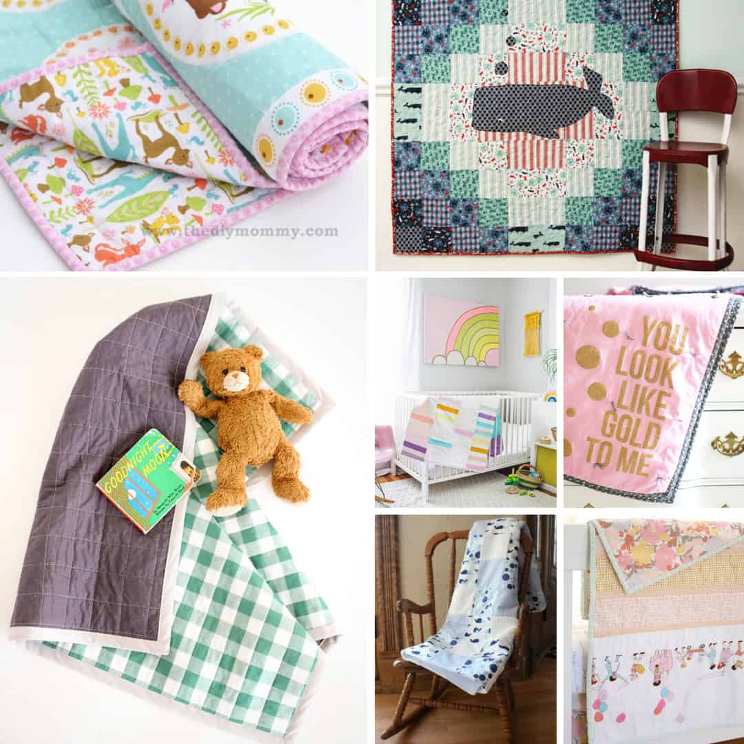 Beautiful Baby quilts to create for your baby or give as a gift.