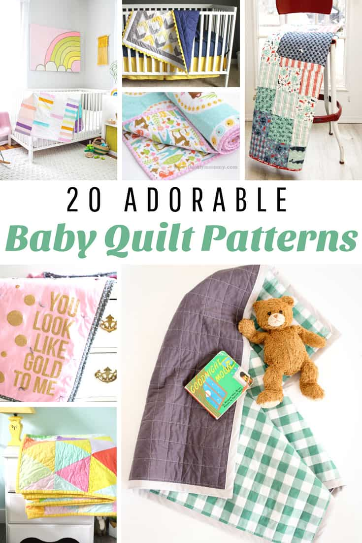 I love these adorable baby quilt patterns!