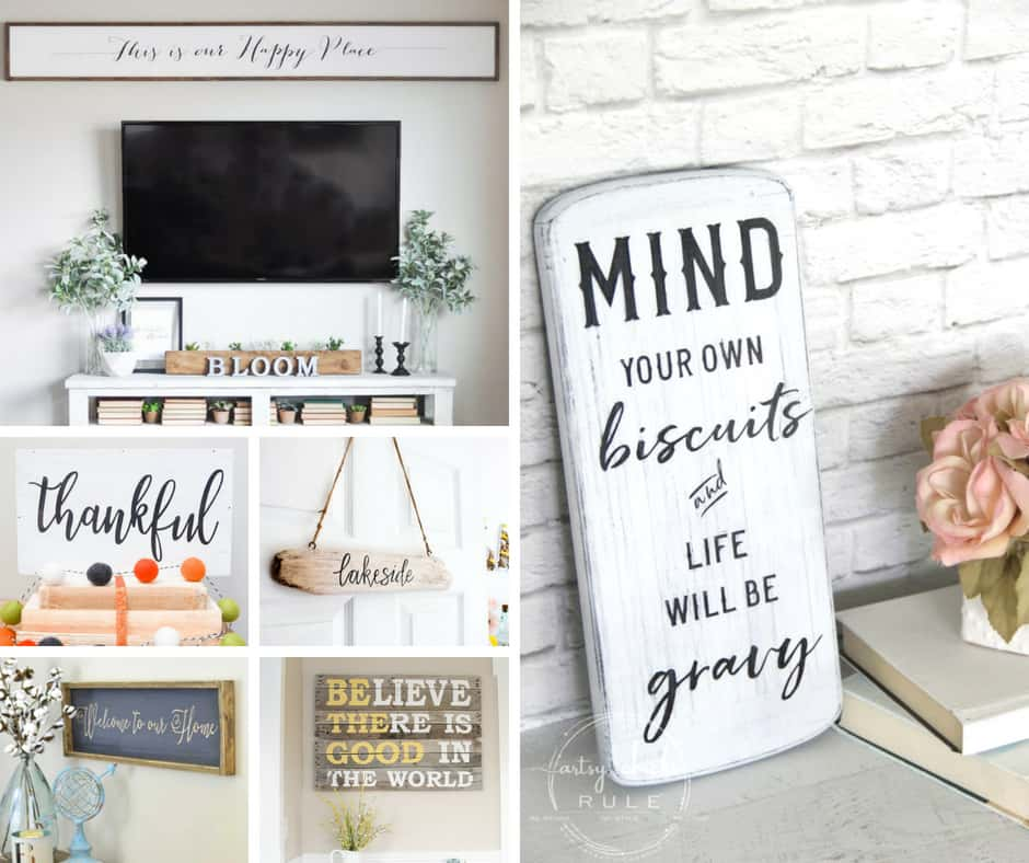 Farmhouse signs are easy to make and easy to love. Find one here that you can't live without!