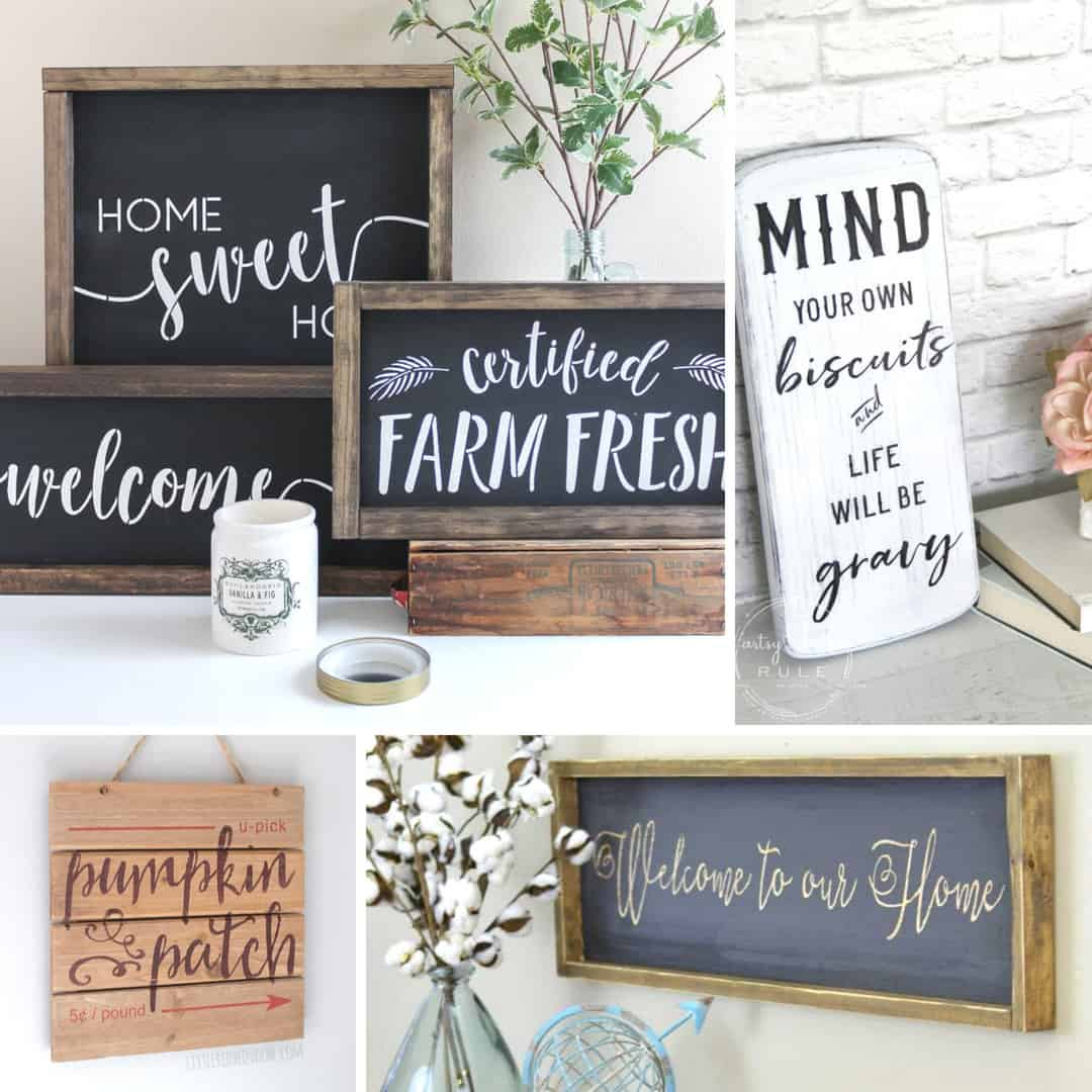 DIY Farmhouse signs to liven your home