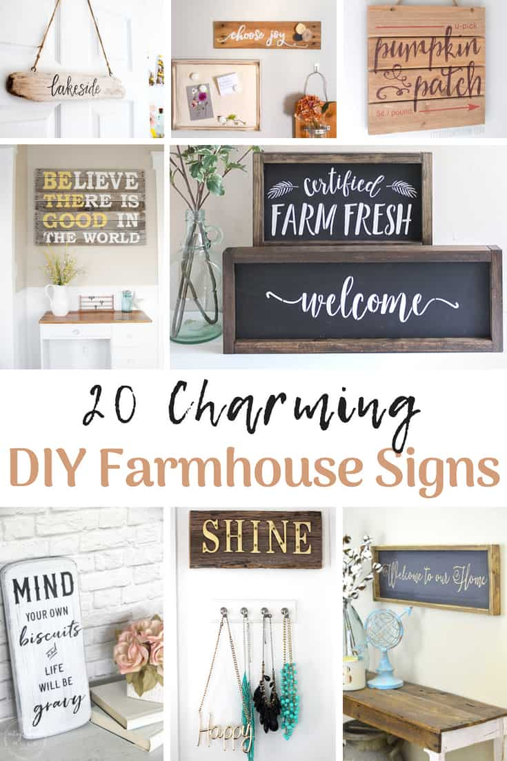 Learn to make your own Farmhouse sign and find lots of samples for inspiration!