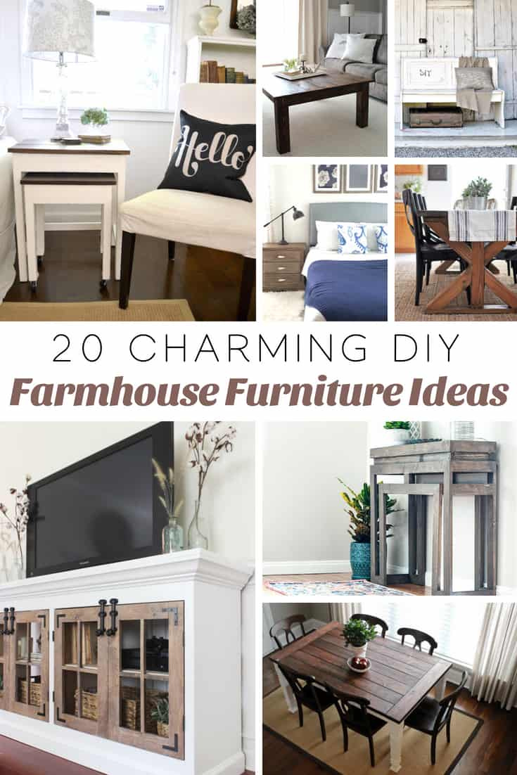 20 Charming DIY Farmhouse Furniture Ideas