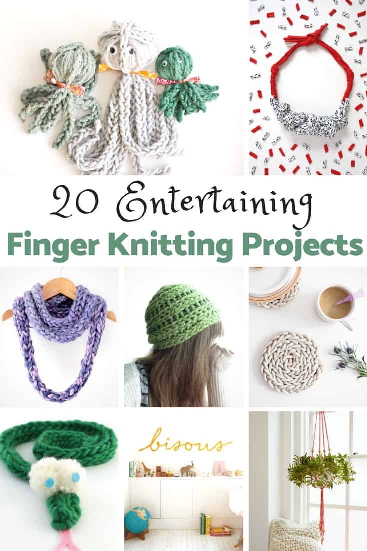 Finger knitting is easy and fun to do. A perfect first craft project for adults and kids.
