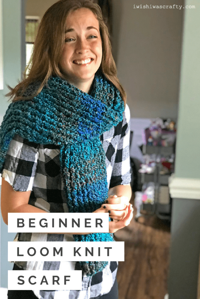 Want to learn how to loom knit a scarf? This is a perfect pattern to start.