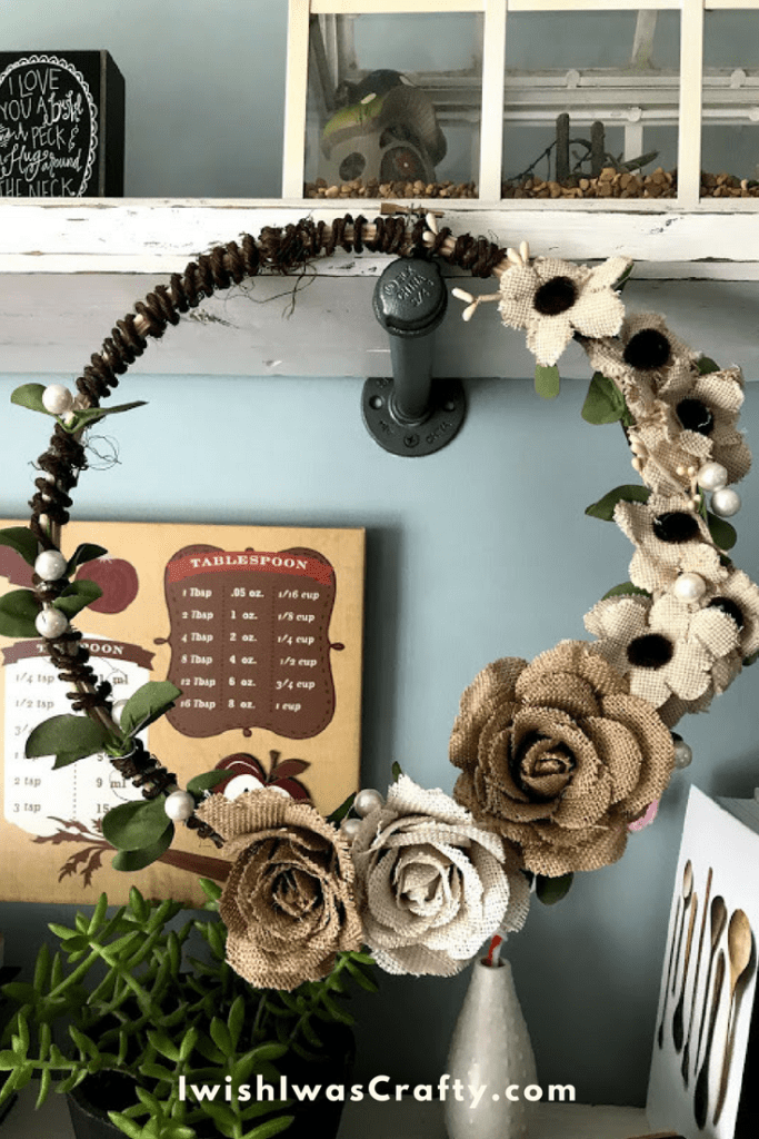 Try making this embroidery hoop wreath yourself! It is an easy crafty project and a great gift.