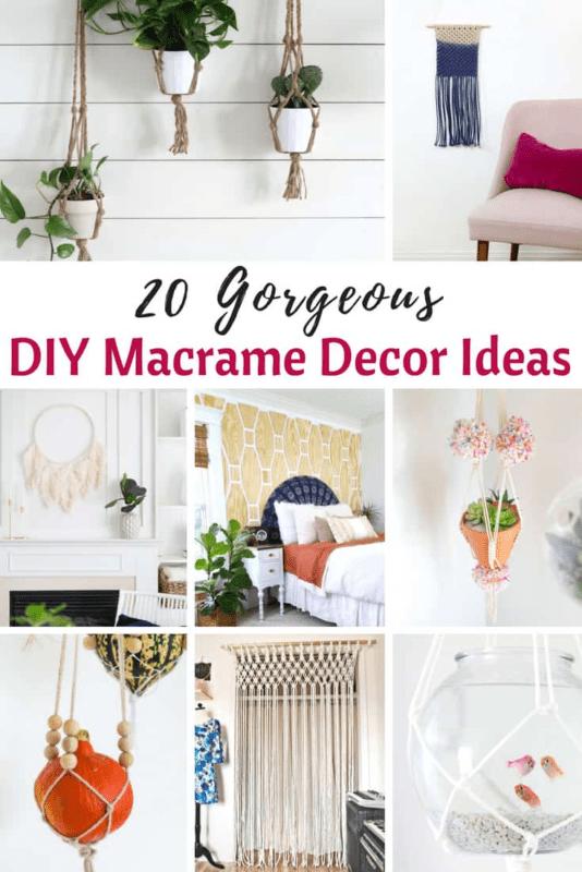 DIY Macrame Decor Ideas
