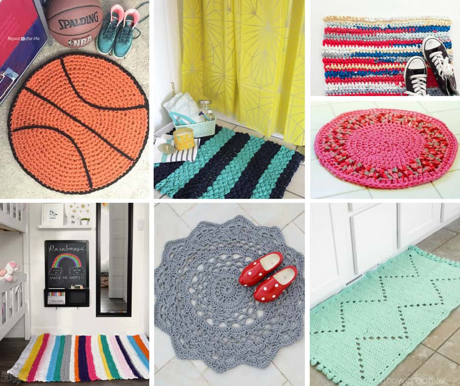 Beautiful Crocheted and Knitted Rugs