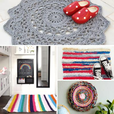 Lovely DIY Crocheted and Knitted Rugs