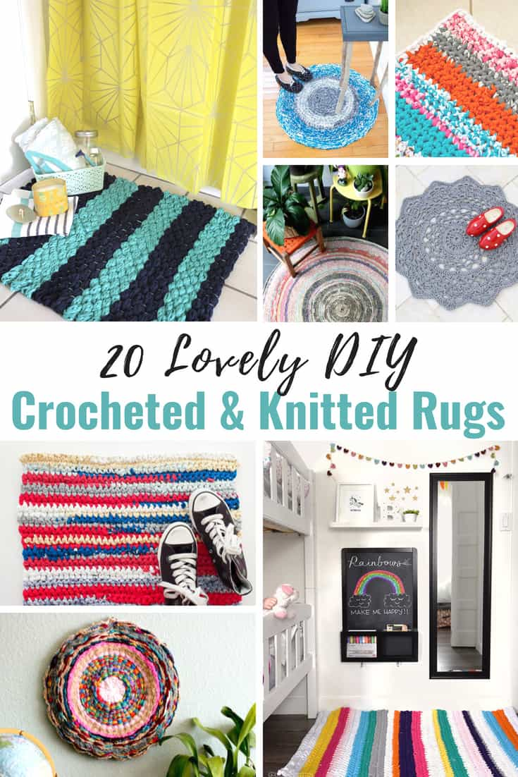 20 Lovely DIY Crocheted and Knitted Rugs