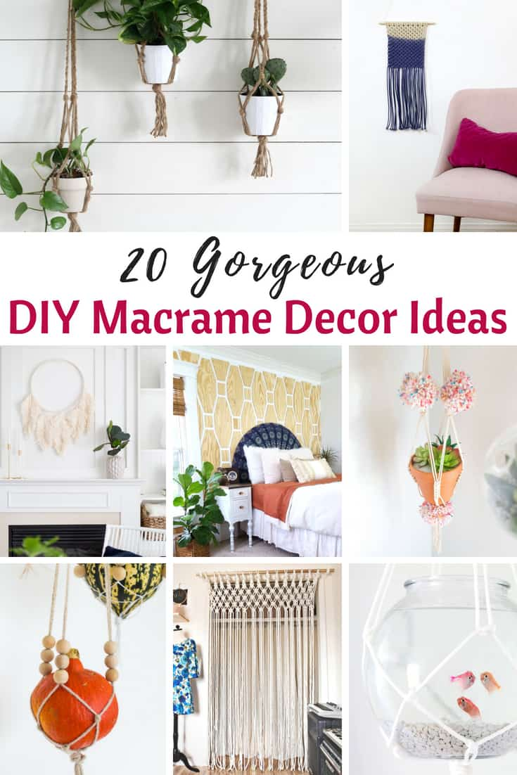 DIY Macrame Decor Ideas to make