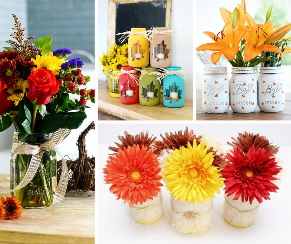 Mason Jar Craft Projects are a creative and economical way to decorate for the season