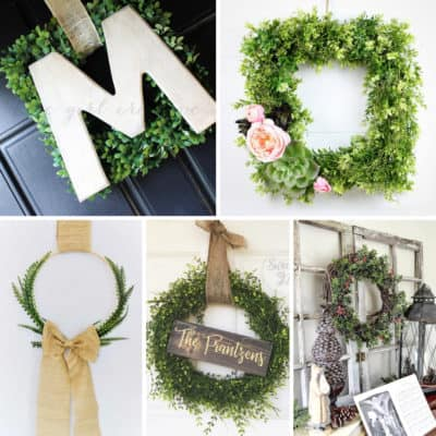 DIY Boxwood Wreaths
