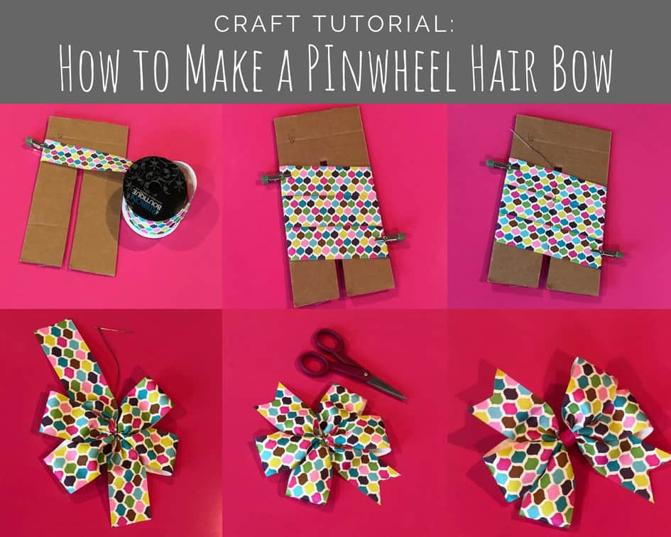 How to Make Pinwheel Hair Bows