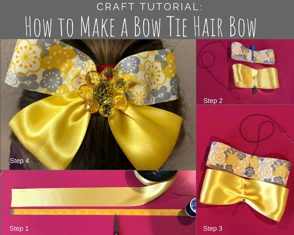 How to make a bow tie hair bow