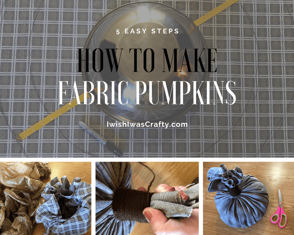 How to make the stem of a fabric pumpkin