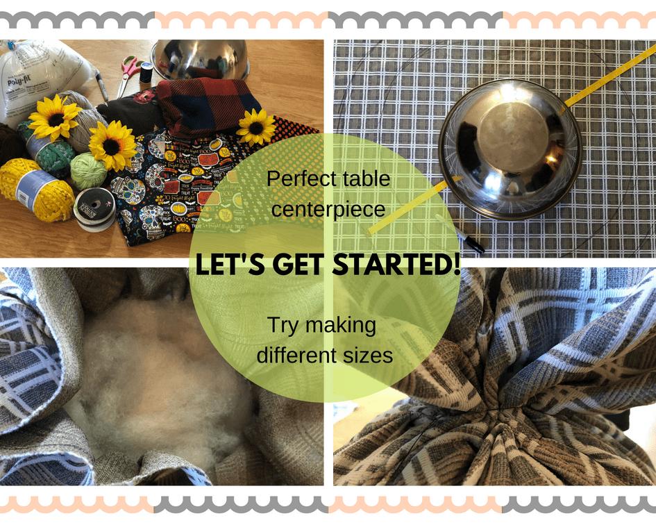 Make a Fabric Pumpkin in a few easy steps