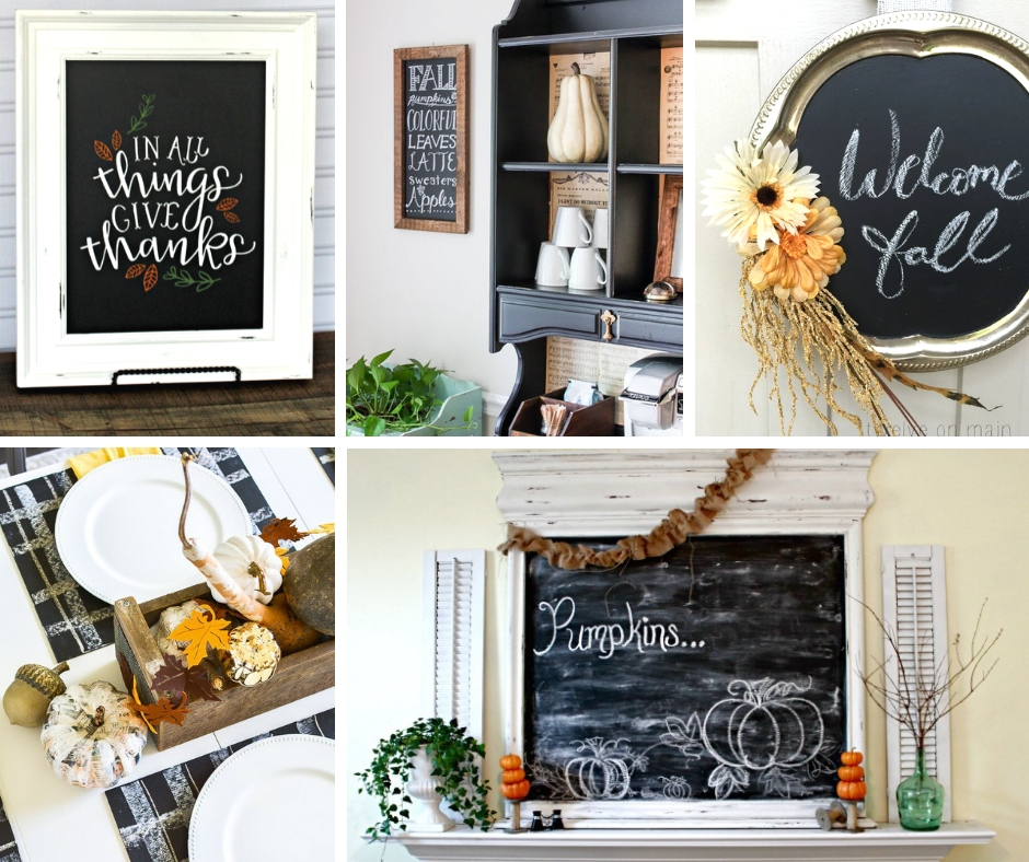 Chalkboard decor is the most fun decor to make for fall