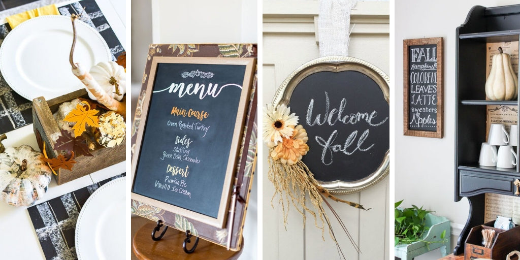 Have you tried making chalkboard decor? These fall ideas are awesome!