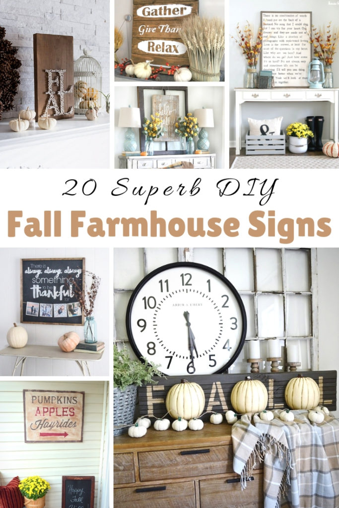 DIY Fall Farmhouse Signs