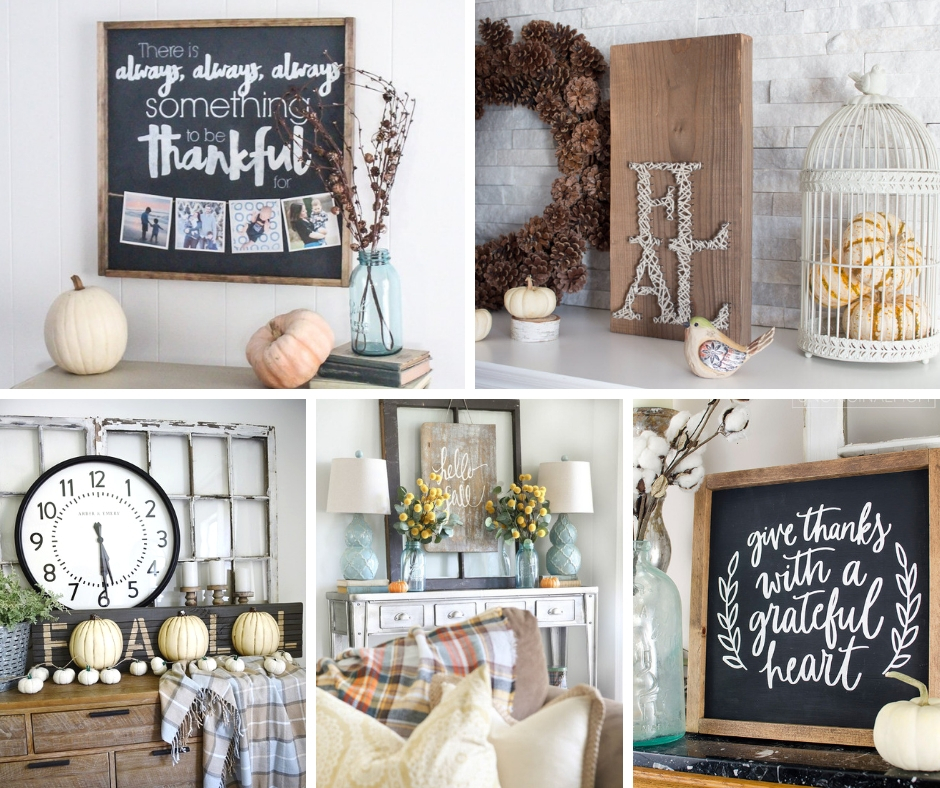 Fall Farmhouse signs you can make yourself