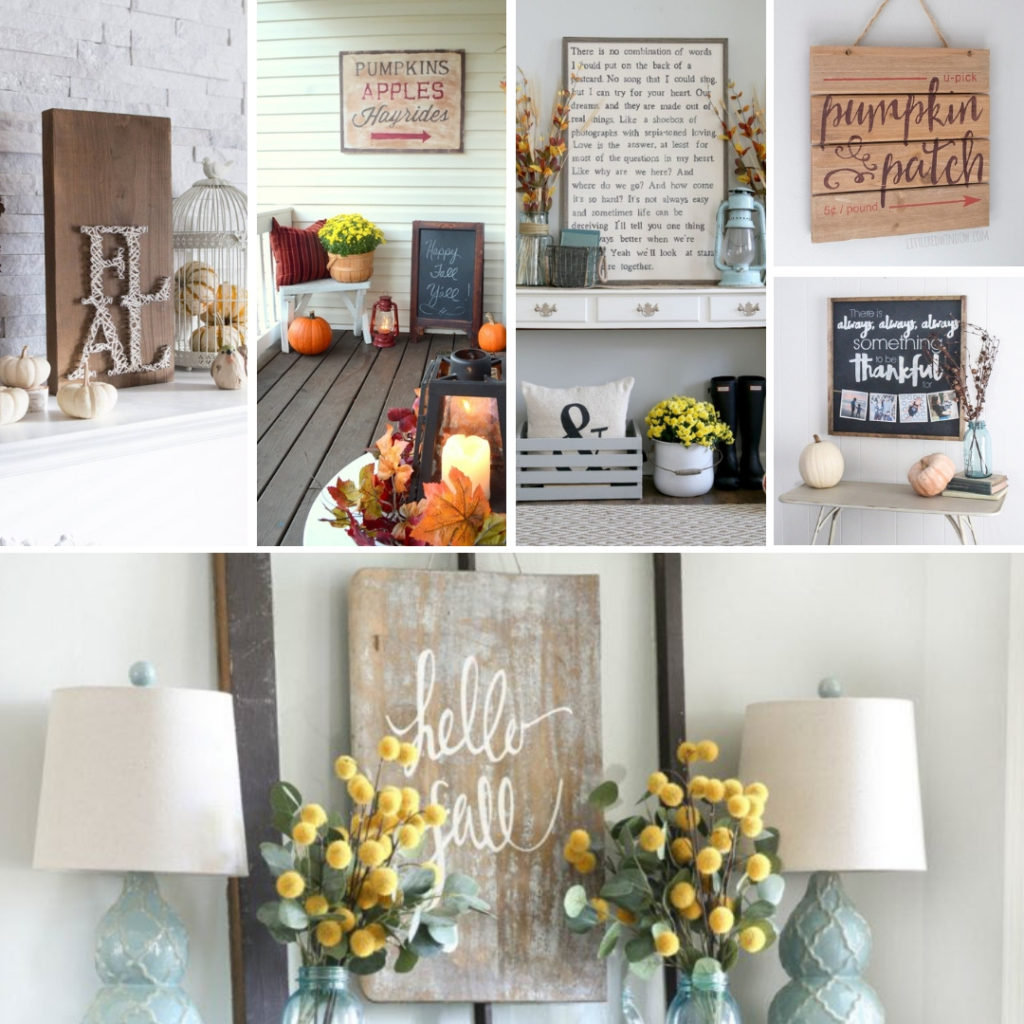 These signs are awesome to make for Fall