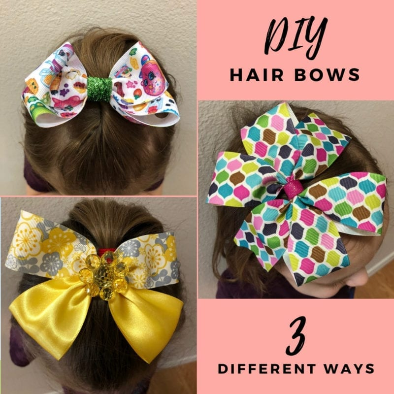 DIY Hair Bows - 3 different designs