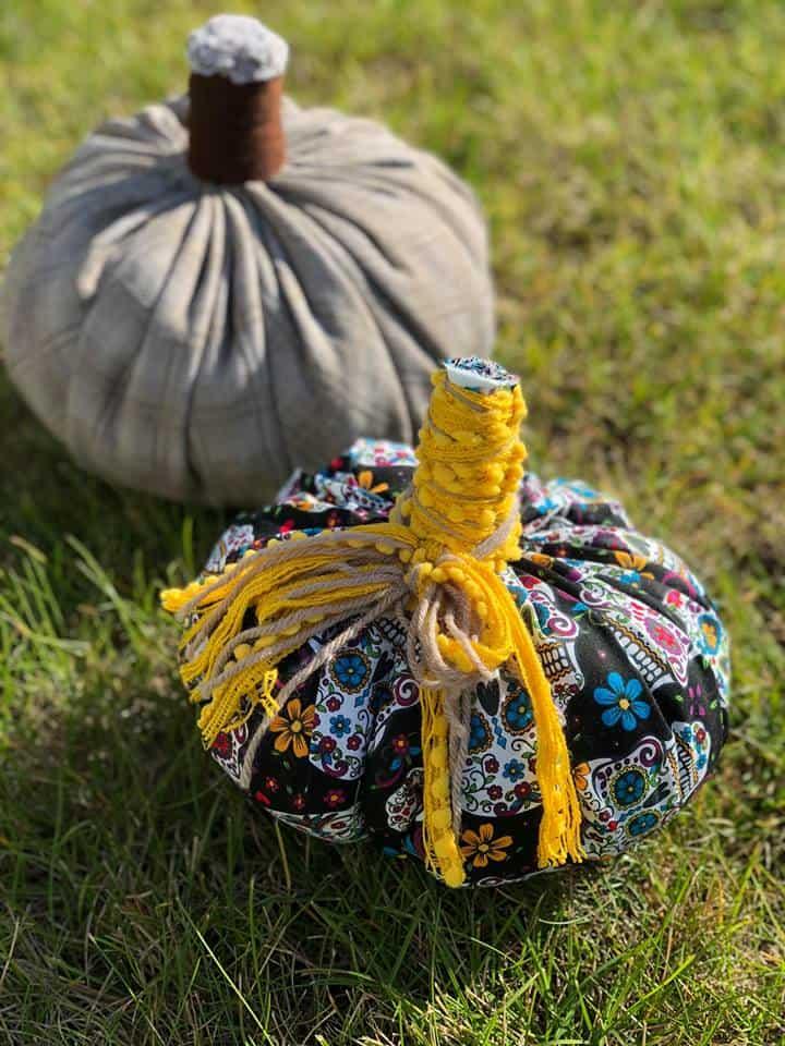 Make a Fall Fabric Pumpkin