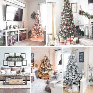 Farmhouse Christmas Living Rooms