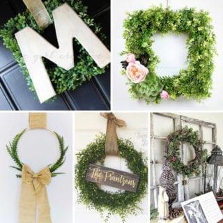 Rustic Boxwood Wreaths