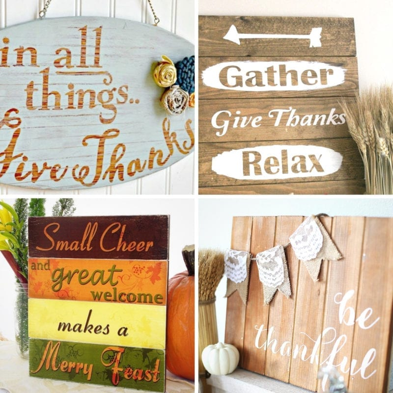 Rustic Thanksgiving Signs to Make Yourself