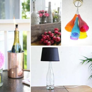 Upcycled Wine Bottle Ideas