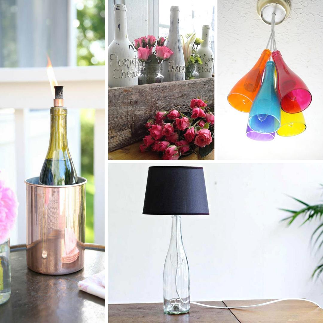 Upcycled Wine Bottle Ideas