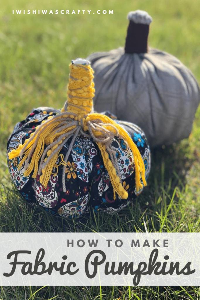 How to make fabric pumpkins as Fall Decor