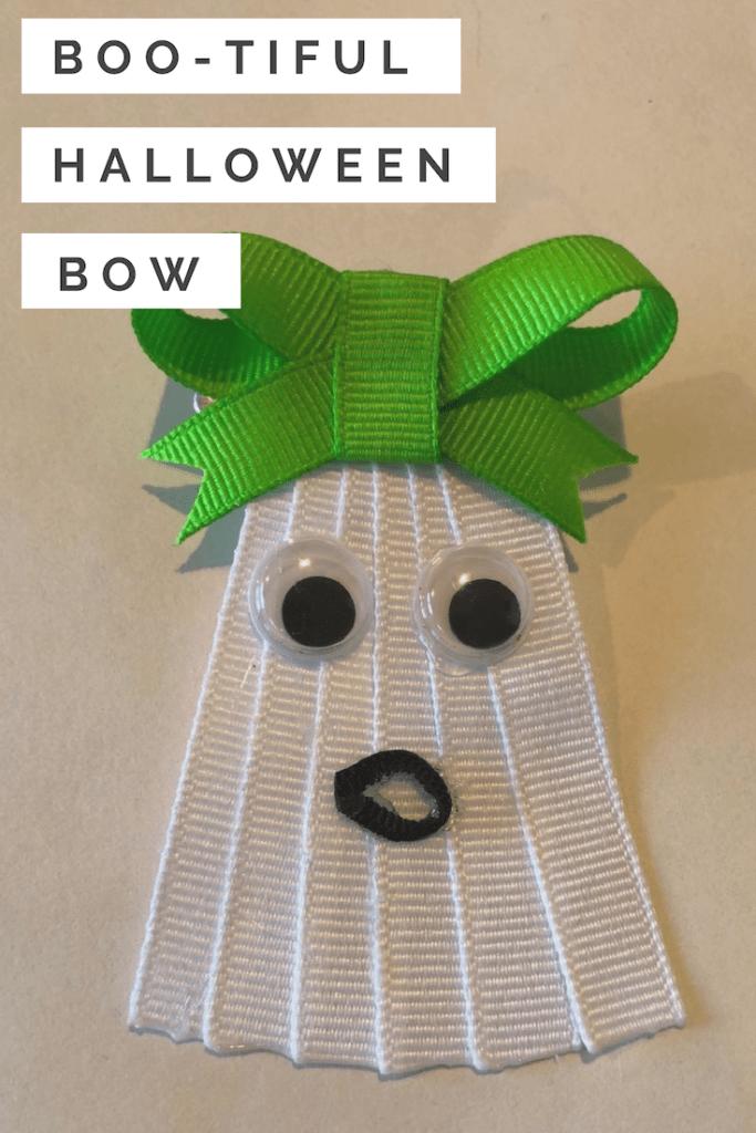 Boo-Tiful Halloween Ghost Bow