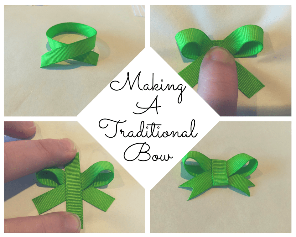 Make a simple bow as an embellishment