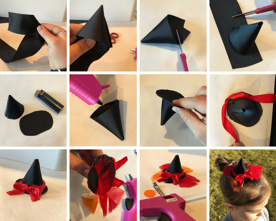 Witch Hat Hairbow Tutorial