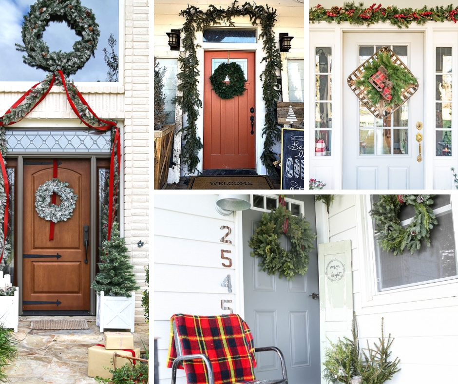Beautiful Front Door Ideas for Christmasa